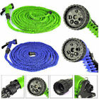 Deluxe 25 50 75 100 Ft Expandable Flexible Garden Water Hose w/ Spray Nozzle RX