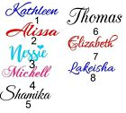 1 personalized vinyl name decal sticker up