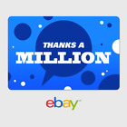 eBay Digital Gift Card - Thank You - Thanks a Million -  Fast Email Delivery