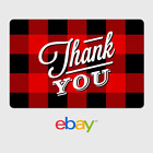 eBay Digital Gift Card - Thank You - Flannel -  Fast Email Delivery <br/> US Only. May take 4 hours for verification to deliver.