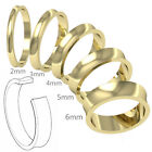 9ct Yellow Gold New Concave Shaped Ladies Gents Plain Wedding Band Ring Gift