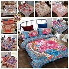 Bohemian STYLE 4Piece Complete Set Duvet Cover with Fitted sheet and Pillowcases