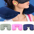 Inflate Air U Shaped Travel Pillow Neck Support Head Rest Airplane OfficeCushion