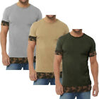 Camouflage Sleeve Long Line T-Shirt  Mens Size