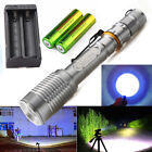 Tactical Police 15000Lumen XM-L T6 LED 5Modes 18650 Flashlight Aluminum Torch US