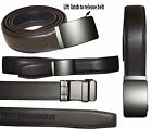 Men's belt Genuine Leather Casual Dress Belt Automatic lock Buckle UP to 50 inch
