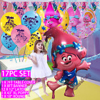 "43"" Troll Princess Poppy balloons banner table covers Troll balloon party"