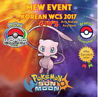 Pokémon SUN & MOON – MEW EVENT KOREAN WCS 2017 - 6IVs - ANY NATURE - OFFER