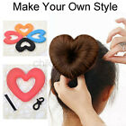 1PC Hair Donut Bun Heart Maker Magic Foam Hair Styling Tool Princess Hairstyle