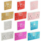 Glitter Wall lighting socket switch cover Sticker skin Round edge peel and paste