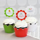 Personalized Winter Wedding Cupcake Wrappers Wraps Toppers Party Decorations