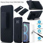 Samsung Galaxy S8 Plus/S8 Rugged Shockproof Stand Case W/Belt Clip Holster Cover