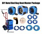 DIY Hotel Bed Bug Heat Master Package with Radial 8 Heater and Fan Combo