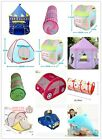 Portable Baby Kids Indoor & Outdoor Play Tent Tunnel Castle House Ball Pit Toy