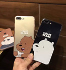 Clear Soft TPU Case Cute Bear Phone Back Cover Plate For iPhone  7 6/6s/7 Plus