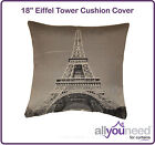 """SALE! 18"""" Eiffel Tower Cushion Cover in Black & White - Low Prices!"""