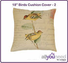 """SALE! 18"""" Birds Cushion Cover 2 Beautiful Designs Available - Low Prices!"""