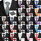20 Colors New Classic Mens 100% Silk Red Blue Black Jacquard Woven Necktie