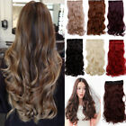 "UK seller clip in one piece hair extensions full head wavy straight 24"" 1pc"
