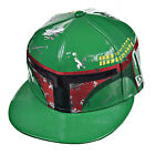 New Era Star Wars Boba Fett Character Face Men's Fitted Hat Cap Green/Red/Black $29.95 USD