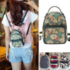 Women's Canvas Mini Small Floral Backpack Rucksack Daypack Purse Cute Bag
