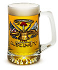 U.S. Army Branch 25 Ounce Beer Mug Tankard Glasses- 2 Pc Set