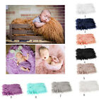 photo props - DIY Baby Photo Props Newborn Photography Soft Fur Quilt Photographic Mat