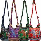 ELEPHANT SHOULDER BAG ETHNIC EMBROIDERED MIRROR HIPPIE SLING