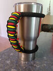 Handmade Paracord handle for RTIC, YETI tumblers Don't Worry Be Happy handle