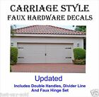Carriage House Style Garage Door Faux Hardware Vinyl Decal Kit - Select Color