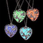 Magic Locket Hollow Heart Glow In The Dark Necklace Luminous Pendant Charms Gift