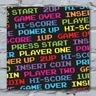 Retro Gaming Art Canvas Print Game Over Text Pixels Great Gift Idea for him her