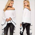 Fashion Women's Ladies flare Long Sleeve Shirt Loose Casual Blouse Tops T-Shirt
