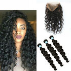 Body Wave 360 Full Lace Frontal Band Closure + 3Bundles Brazlian Human Weft Hair