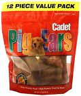 CADET PIG EARS VALUE PACK Resealable Bag Dog Treats 12-pack