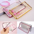 Ultra-Thin Clear Crystal Diamond Soft TPU Plating Case Cover For Huawei Ascend