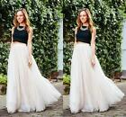 Plus Size S-5XL Long Women Tulle Skirt Princess Celebrity Skirts Party Prom TUTU