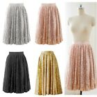 S-5XL Sequin Short Knee Length Sparkly Party Cocktail Evening Prom Woman Skirt