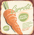 DIRECT FROM FARM FRESH CARROTS   METAL TIN SIGN POSTER WALL PLAQUE
