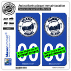 2 Stickers autocollant plaque immatriculation Auto : Miami Floride - Timbre