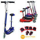 KIDS ELECTRIC E SCOOTER 120W 24V RIDE ON BATTERY TOY ADJUSTABLE REMOVABLE SEAT