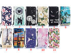 For iPhone SE 5 6 7 plus Flower Patterned PU Leather Card Slot Stand Wallet Case