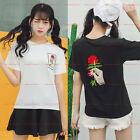 Korean Fashion Women's Summer Embroidered Blouse Loose Short Tops T -Shirt New