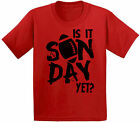 Is It Sunday Yet American Football Rugby Youth Kids T shirt Tops Game Day Rugby
