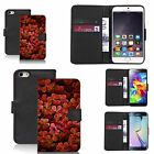 Black pu leather wallet case cover for most mobiles - clover leafs