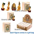 Egyptian Figures Nefertiti King Tut Queen Each come in A Gift Bag