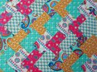 INDIAN GARDEN JADE ~ COTTON FABRIC PATCHWORK SQUARES PIECES CHARM PACK 4 10 INCH