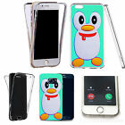 Shockproof 360° Silicone Clear Case Cover For many mobiles - AQUA PENGUIN.