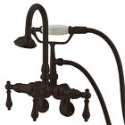 Kingston Brass CC301T5 Vintage Leg Tub Filler with Hand Shower and Wall Angle...