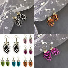 Women Jewelry Gift Long Crystal Cocktail Feather Tassel Hanging Cute Owl Pattern